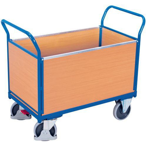 Ergonomischer Wagen mit 4 Holzplatten- Traglast 400bis 500kg