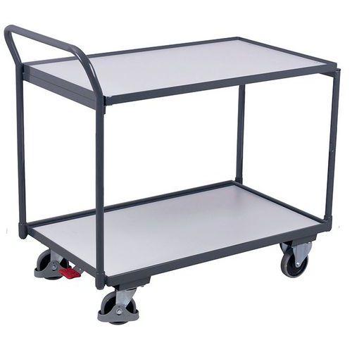Ergonomischer Wagen mit 2Holzplatten ESD- Vertikale Stange- Tragkraft 250 kg