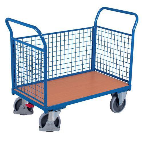 Ergonomischer Wagen mit Gitterverkleidung 400 und 500kg- 2Bügel +1Seitenwandteil