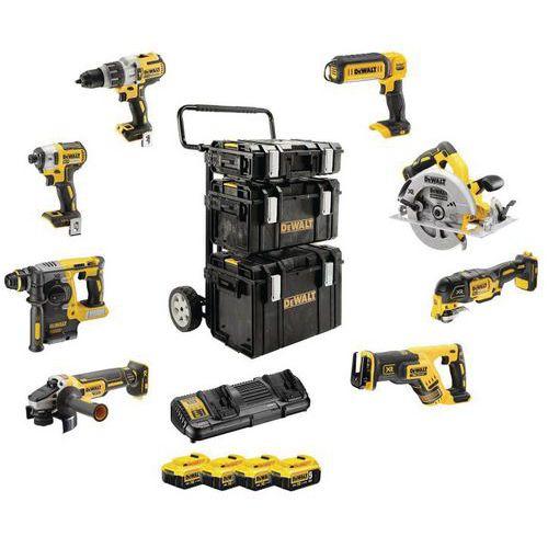 Premium-Satz aus 8 Werkzeugen XR-Reihe- 18V- 5Ah Li-Ion