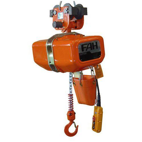 Elektrischer flaschenzug l phant efa efb mit freiem wagen for Paranco elettrico 1000 kg
