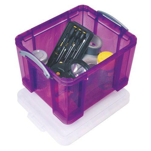 Aufbewahrungsbehälter - Länge 480 mm - Transparentes Modell