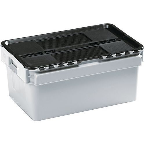 Standardbehälter mit integriertem Deckel - Länge 400 mm