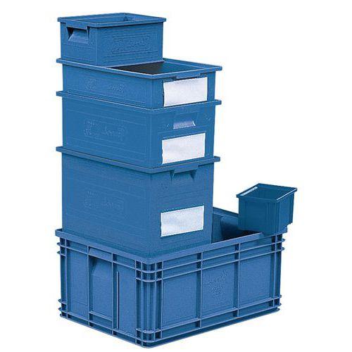 Behälter stapelbar mit spezifischen Abmessungen - Blau