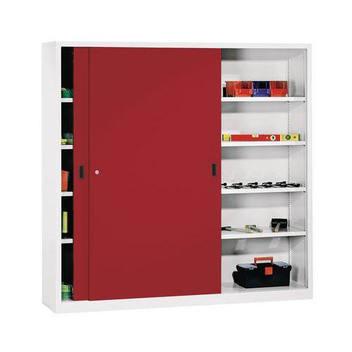hoher schrank mit schiebet ren breite 200 cm x tiefe 60 cm man. Black Bedroom Furniture Sets. Home Design Ideas