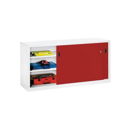 niedriger schrank mit schiebet ren breite 200 cm x tiefe 50 cm. Black Bedroom Furniture Sets. Home Design Ideas