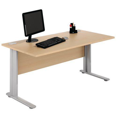 Geradliniger Schreibtisch - Buche - Manutan