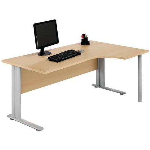 Kompakter Schreibtisch - Buche - Manutan
