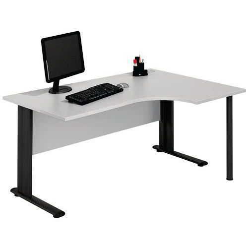 Kompakter Schreibtisch - Hellgrau - Manutan