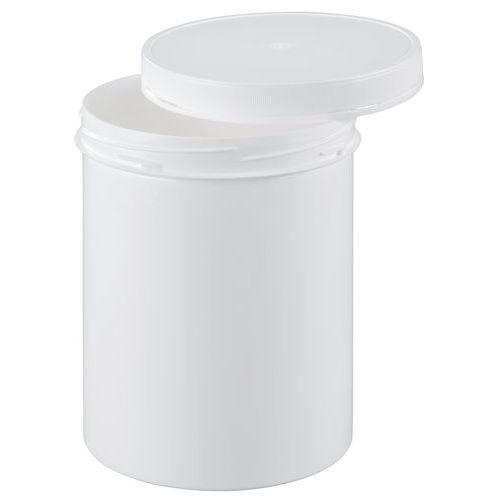 Kunststoffbehälter mit bruchsicherem Schraubdeckel