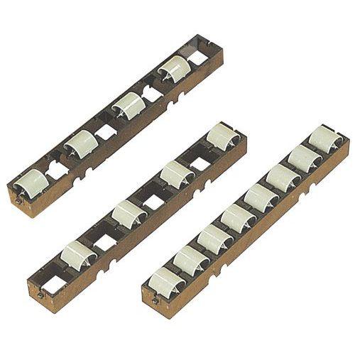 Kunststoff-Laufrollenschienen- Satz mit 10 Schienen Länge 272mm