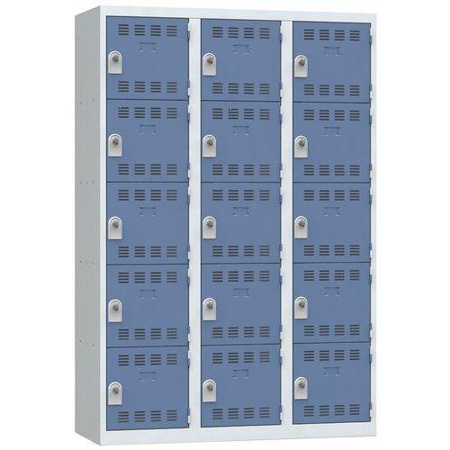 Spind mit mehreren Fächern- 3Säulen- 5Fächer- Breite 400mm