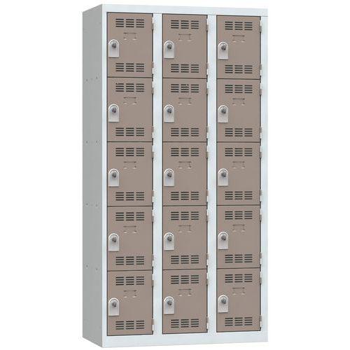 Spind mit mehreren Fächern- 3Säulen- 5Fächer- Breite 300mm