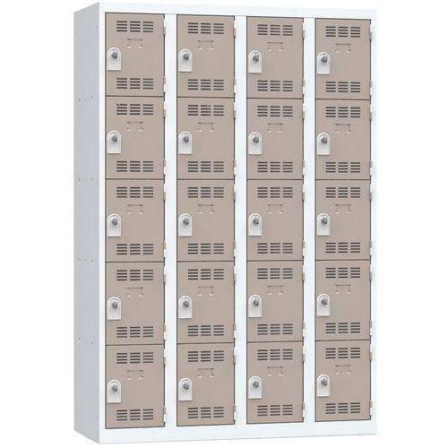 Spind mit mehreren Fächern- 4Säulen- 5Fächer- Breite 300mm