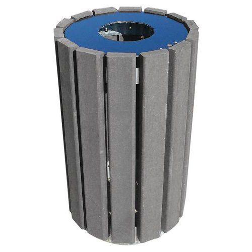Runder Abfallbehälter mit Müllsackring Escapade- 90L