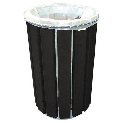 Runder Abfallbehälter Eco- Befestigung des Sacks durch Gummi- 90L