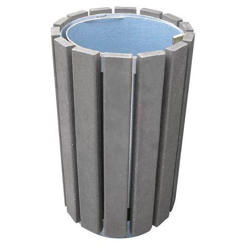 Runder Abfallbehälter Escapade ohne Deckel- mit Schloss- 70L