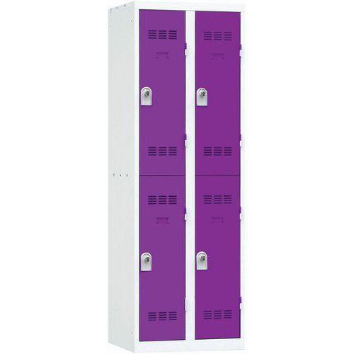Spind mit mehreren Fächern- 2Säulen- 2Fächer- Breite 300mm