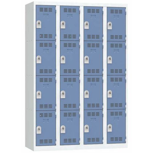Spind mit mehreren Fächern- 4Säulen- 4Fächer- Breite 300mm