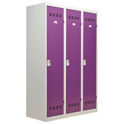 Spind für Industriebereiche mit hoher Schmutzbelastung- 3Säulen- Breite 400mm - Vinco