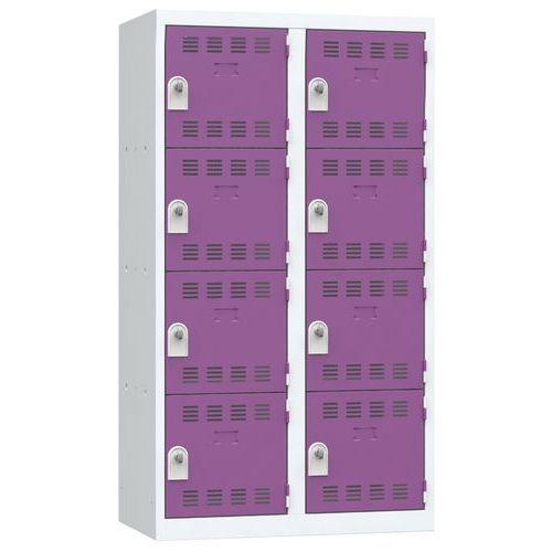 Spind mit mehreren Fächern- 2Säulen- 4Fächer- Breite 400mm