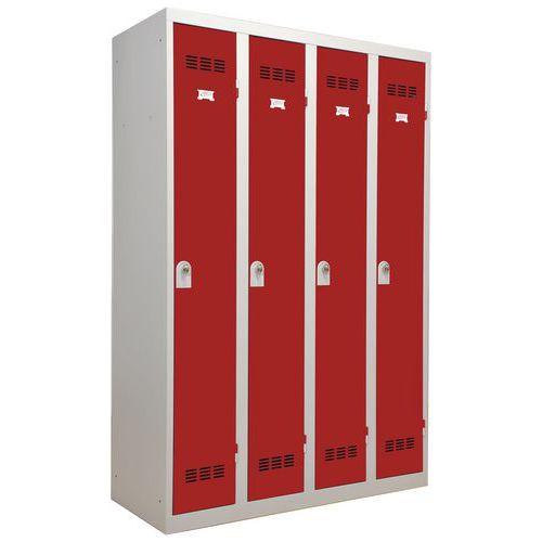 Spind für saubere Industriebereiche- 4Säulen- Breite 300mm - Vinco