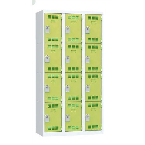 Spind mit mehreren Fächern- 3Säulen- 4Fächer- Breite 300mm