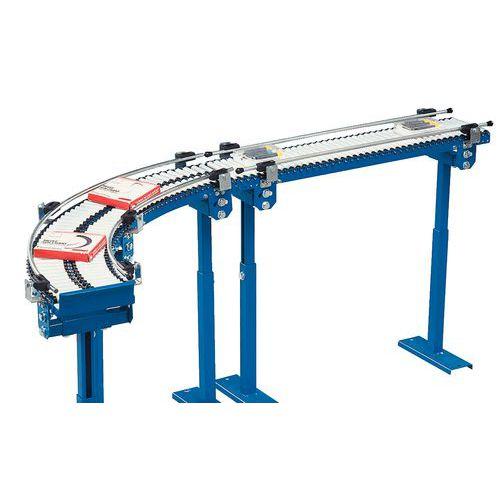 Mikro-Schwerkraftförderer - Mit PVC-Rollen Ø 20 mm - Länge 250 mm