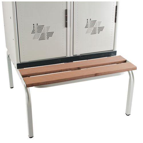 Spind mit Sitzbank-Untergestell Seamline®, schmutzige Industrie