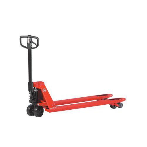 manueller hubwagen mit bremse gabell nge 1150 mm tragkraft 3. Black Bedroom Furniture Sets. Home Design Ideas