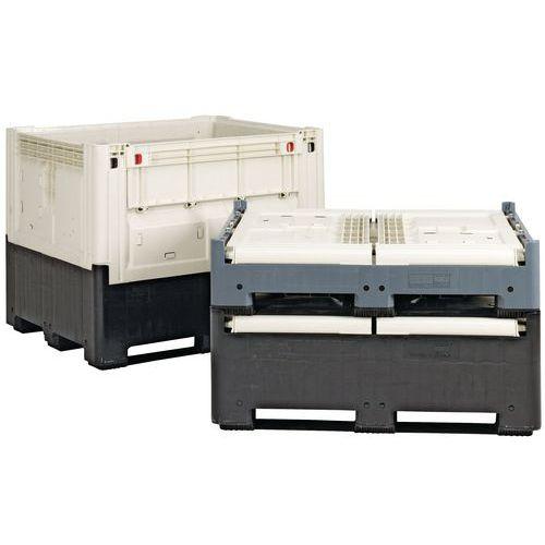 Zusammenklappbare Palettenbox Smartbox-Mit Einführungsklappe