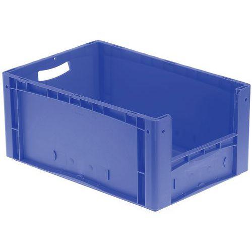 Euronormbehälter - Geschlossene/r Boden und Seiten - Halbseitige Öffnung - Länge 600 mm - 44 bis 85 L