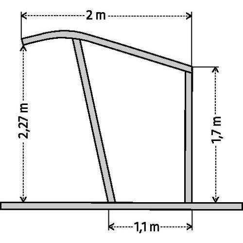 fahrradunterstand mit geneigtem dach ohne fahrradst nder ausgangsmodul manutan deutschland. Black Bedroom Furniture Sets. Home Design Ideas
