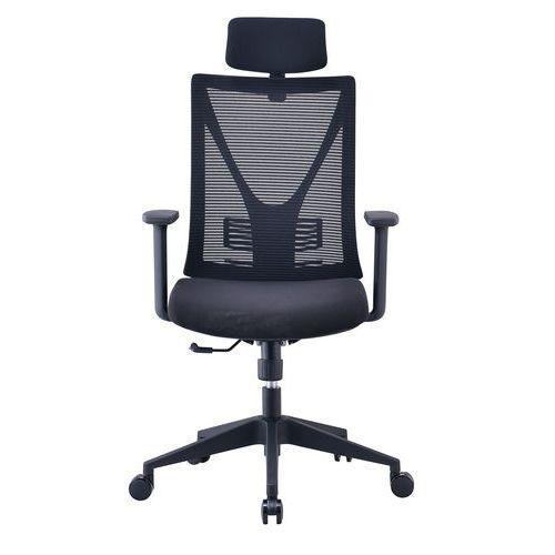 Bürostuhl mit Netzbespannung und verstellbaren Armlehnen