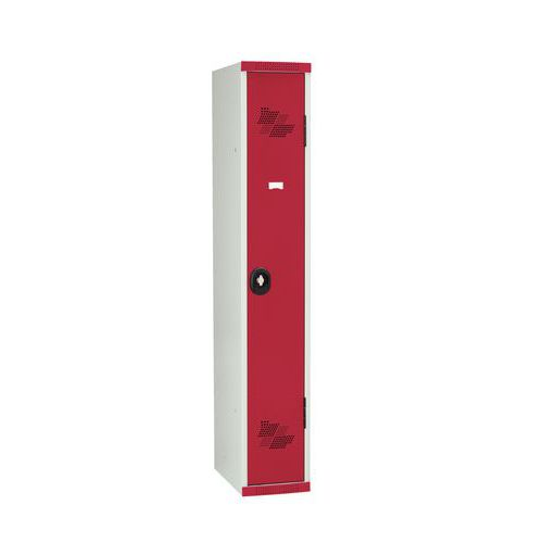 Spind Seamline Optimum® mit Garderobe- 1Säule, Breite 300mm- auf Sockel- Acial