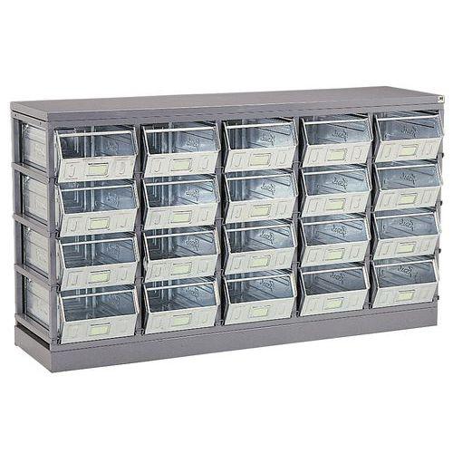 Aufbewahrungsständer für Behälter mit Tüllen und Kisten