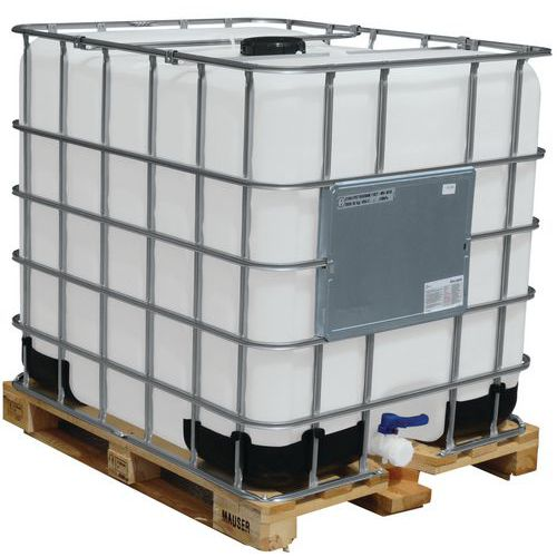 Transportbehälter Unicube, Standardzulassung - Tank + Holzpalette