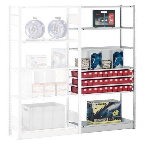 regale easy fix anbauelement tiefe 800 mm verzinkt manutan. Black Bedroom Furniture Sets. Home Design Ideas