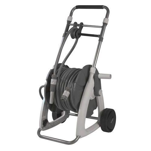 Tragbarer Abroller für Schläuche mit ergonomischem Griff- 22m- Eurom