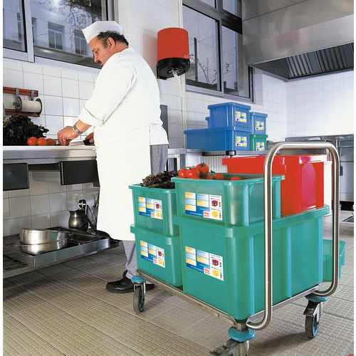 Stapelbarer Behälter mit Deckel - Länge 595 mm - 35 L bis 55 L