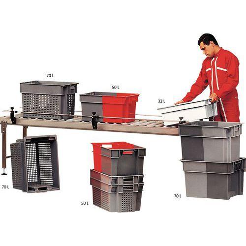 Stapelbarer Behälter für Hin- und Rücksendung- Länge 600 mm - 32 bis 70 L
