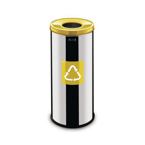 Recycling-Abfalleimer aus Metall Prestige EKO 45L