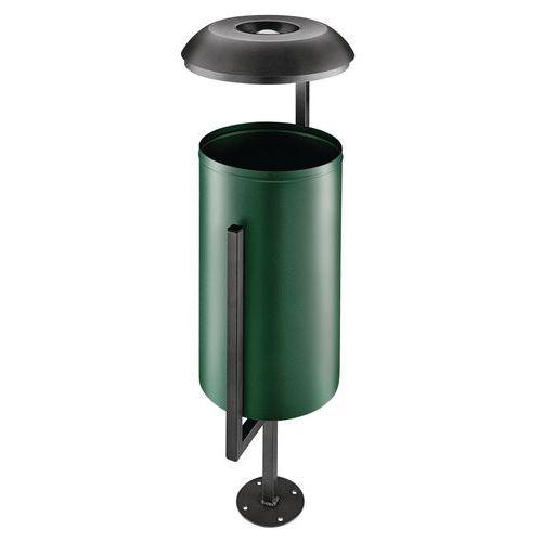 Abfallbehälter für den Außenbereich aus Metall Albert 35L