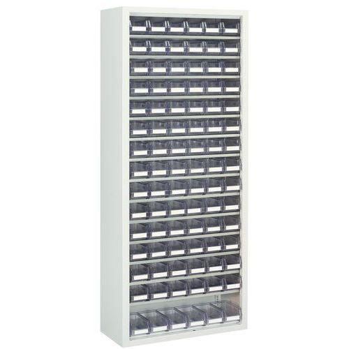 Schrank für transparente Lagerkästen - Mittel - Ohne Türen