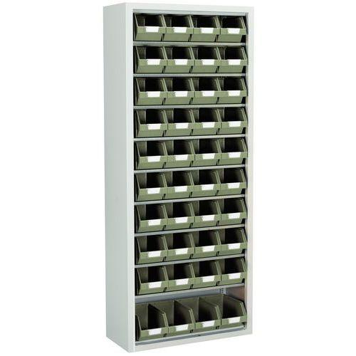 Schrank mit Sichtlagerkästen Manugreen - Mittelgroß - Ohne Türen