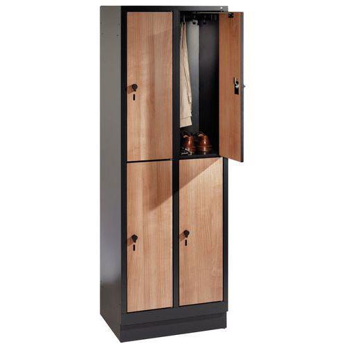 Holzspind Évolo II mit 4 bis 8 Fächern - 2 bis 4 Säulen, Breite 400mm