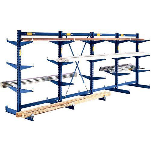 Regal Canti-Strong- Belastbarkeit: 330kg pro Ebene- HxL 2500x1247mm