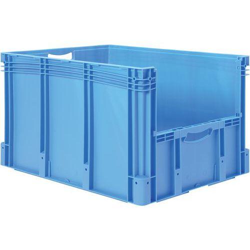 Euronormbehälter - Geschlossene/r Boden und Seiten - Halbseitige Öffnung - Länge 800 mm - 144 L