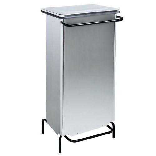 Abfallbehälter zum Stellen mit Fußpedal, Edelstahl, hochglanz, 110L