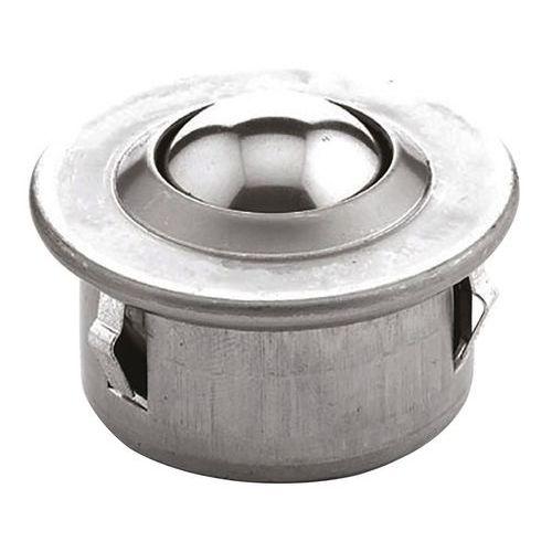 Zylinderförmige Kugelrolle mit Sockel - Steckbefestigung - Tragkraft 60kg